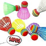 Plástico De Colores Bádminton 14 Piezas Volante De Bádminton De Plástico Volante De Bádminton Para Niños Pelotas De Bádminton De Nailon Para Movimiento De Entretenimiento De Entrenamiento