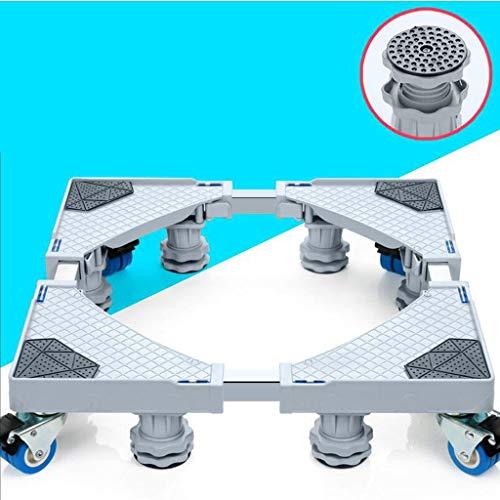 CHGDFQ Muebles Dolly Roller Base móvil Tamaño ajustable con 4 ruedas de bloqueo y 8 pies fuertes, base telescópica pedestal para lavadora portátil refrigerador lavadora secadora