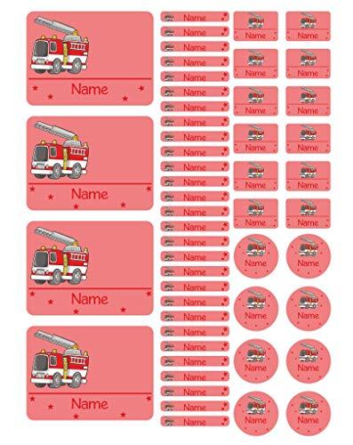 Mein Zwergenland Namensaufkleber Stickerbogen Feuerwehr