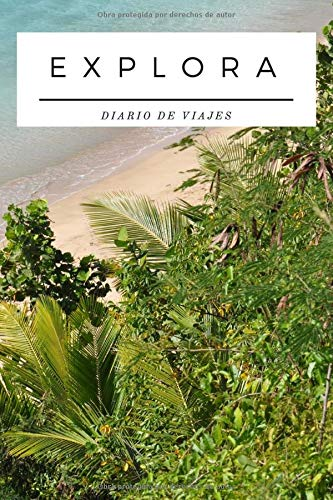 Diario de Viajes - Explora - Regalo para Viajeros: Cuaderno de Viaje | Libreta de 120 páginas | Diario de Rayas Horizontales | Bloc de Notas para Viajar | Regalo Original para Exploradores