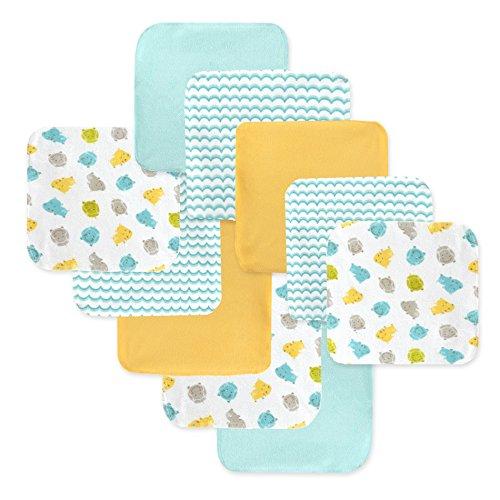 Just Born Boys and Girls Newborn Infant Baby Toddler Soft Bath Baby Washcloth Multi Pack