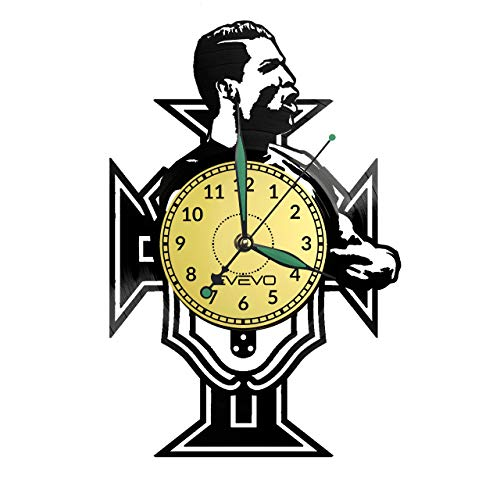 Reloj de pared Cristiano Ronaldo de vinilo retro grande reloj estilo habitación decoración hogar gran regalo para amigo hombre vinilo Record Kovides vinilo decoración pared inspiradora