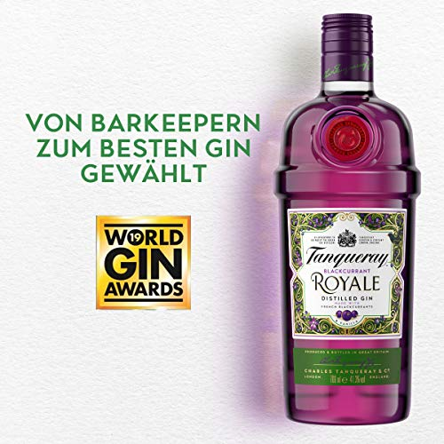 Tanqueray Blackcurrant Royale Distilled Gin – Ideale Spirituose für Cocktails oder Gin Tonic – 1 x 0,7l - 3