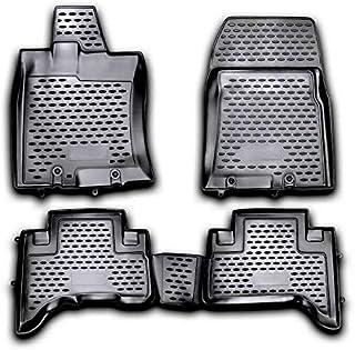 OMAC EUA Conjunto completo de tapete de borracha preta moldada 3D para Toyota FJ Cruiser 2006-2014