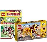 Collectix Lego Set Creator 31112 Wilder Löwe - Juego de figuras de Lego (incluye cuaderno Explorer nº 9)