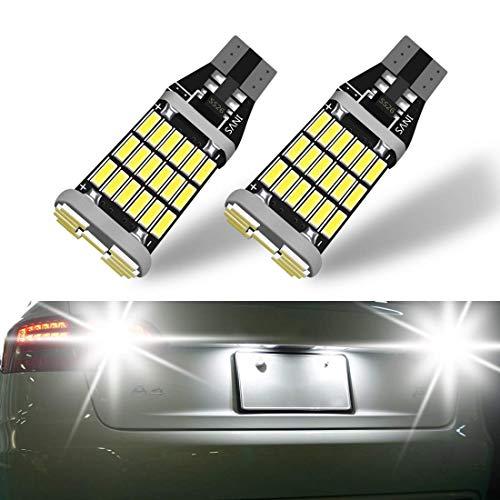 YANF 921 912 T15 906 W16W Non-polarity Extrêmement Lumineux CANBUS Sans Erreur Ak-4014 45PCS Chipsets Ampoules LED pour Feux de Clignotant Back Up Eclairage Inversé