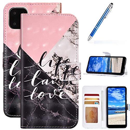 Robinsoni Case Compatibel met iPhone 11 Telefoon Case Portemonnee Telefoon Cover PU Lederen Cover Shockproof Kickstand Case Notebook Glossy Cover Flip Stand Boek Stijl Lederen Hard Case Chocolade