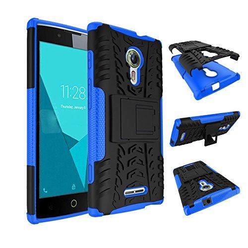 SsHhUu Alcatel Flash 2 Hülle, Premium Rugged Stoßdämpfung und Staubabweisend Kompletter Schutz Hybrid-Koffer mit Ständer Telefon Kasten für Alcatel Flash 2 (5.0