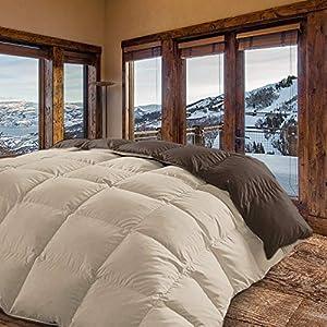 Energy Colors Textil - Hogar - Mónaco - Relleno Nórdico 350 gr Reversible Estampado Tacto Suave Otoño - Invierno (Beige - Marrón, Cama 150 (240 x 260 cm))