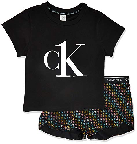 Calvin Klein Women's CK One Pride Print PJ Set, Black, M
