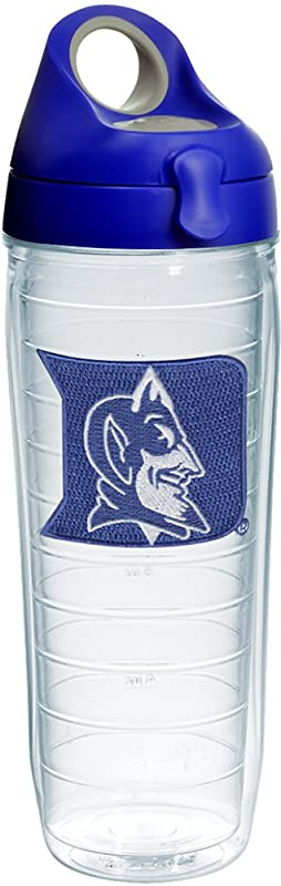 Tervis 1238116 Duke Devils Logo Insulated Tumbler With Emblem And Blue With Gray Lid 24oz Water Bottle Clear