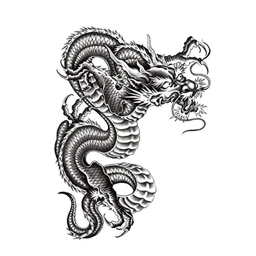 EROSPA® Tattoo-Bogen temporär / Sticker - Drachen Dragon - Wasserfest