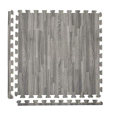IncStores - Premium Soft Wood Interlocking Foam Tiles (Grey - 36 Tiles)