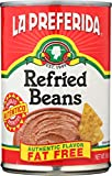 La Preferida Refried Beans Fat Free, 16 Oz