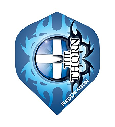 Robert Thornton The Thorn Extra Thick Dart Flights 4 sets pro pack (12 flights insgesamt) & Red Dragon Checkout Card