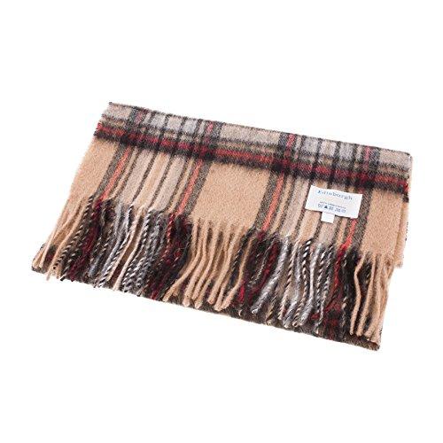 Edinburgh Schal aus 100% Lammwolle, sehr weich, perfekt für den täglichen Gebrauch, ideal zum Warmhalten Tolles Modestück für das ganze Jahr. Damen, Herren, Kinder. Gr. Einheitsgröße, Stewart Kamel
