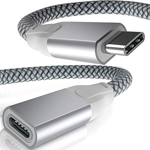 USB C Extension Cable 6.6FT,USB-C 3.1 Gen2 10Gbps Type C Female to USBC Male Extender Cord,Thunderbolt 3 Cable Adapter for Nintendo Switch,MacBook Pro,Mac Air,Microsoft Surface Go,Oculus Quest Link VR