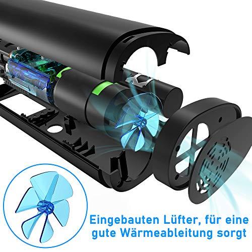 VEEAPE Elektrische Digitale Reifenpumpe mit 2000mAh Akku, 120PSI Fahrradluftpumpe Kompressor mit LCD-Bildschirm für Auto, Fahrrad, Motorrad, Basketball, Football usw. Als Taschenlampe und Powerbank. - 4