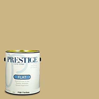 Prestige Paints P100-T-SW6408 Interior Paint and Primer in One, 1-Gallon, Flat, Comparable Match of Sherwin Williams Wheat Grass, 1 Gallon,