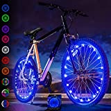 Activ Life Bike Wheel Lights (2 Tires, Blue) Best Gifts for Men for Christmas...