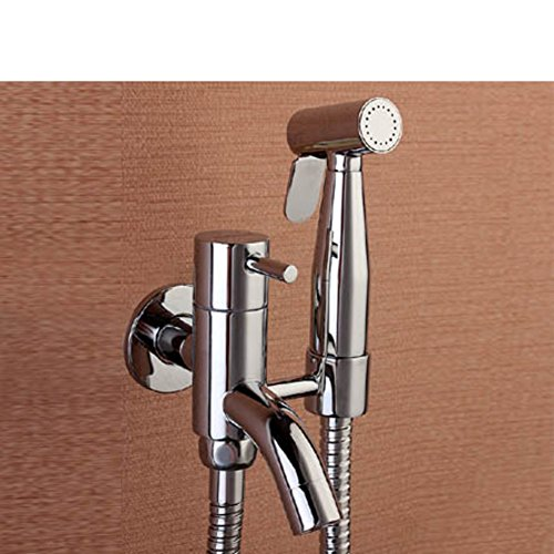 brass angle valve toilette spray gun KitRobinet à trois voies bidet-A