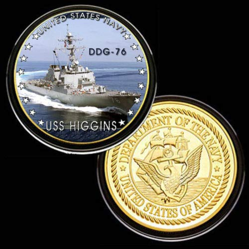 U.S. United States Navy | USS Higgins DDG-76 | Gold Plated Challenge Coin