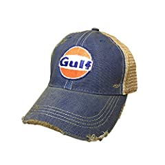 Officially Licensed Gulf Product Medium Weight Cotton Adjustable Snapback Mesh Trucker Back Unstructured, Soft Feel