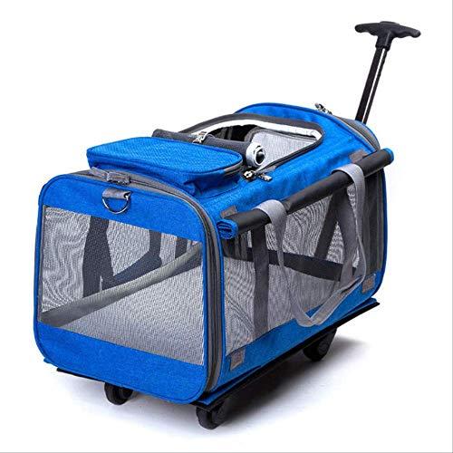 JBPX huisdier dragers opvouwbare grote hond kat ademende rollende bagage Oxford koffer wiel bewegen Kennel dragen op trolley huisdieren Reistas op wiel
