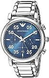 Emporio Armani Herren Chronograph Quarz Smart Watch Armbanduhr mit Edelstahl