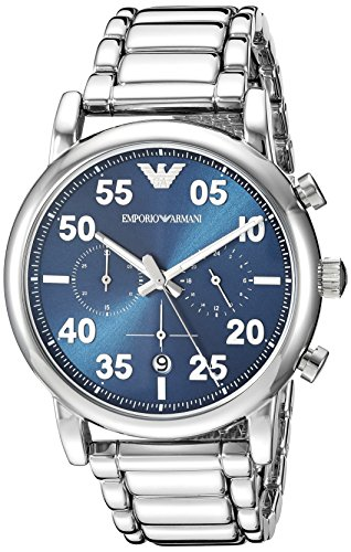 Emporio Armani Reloj Cronógrafo para Hombre de Cuarzo con Correa en A