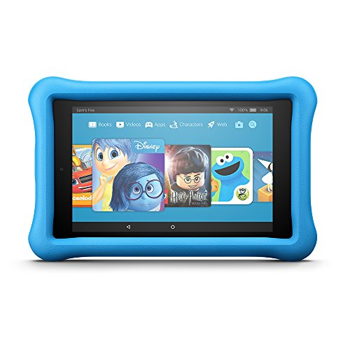 Fire HD 8 Kids Edition Tablet, 8' HD Display, 32 GB, Blue Kid-Proof Case (Previous Generation - 7th)