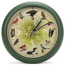 Mark Feldstein & Associates Limited Edition 20th Anniversary Singing Bird Wall / Desk Clock, 8 Inch