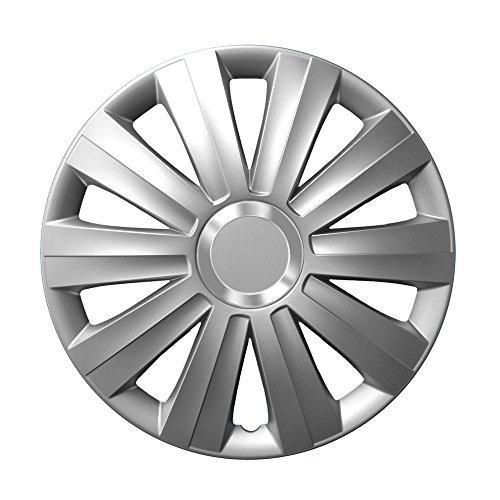 14pulgadas tapacubos Viper Silver (Plata con anillo cromado). Tapacubos apto para Opel Vehículos