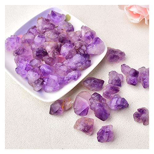 LULIJP Natürliche Kristall Unregelmäßige Steine Exemplar Amethyst Chakra Rohe Kristalle Wohnkultur Aquarium Stein (Color : Amethyst Point, Size : 50g)
