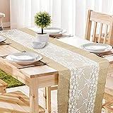 10 manteles camino de mesa Individuales de Yute con Aislante de Encaje PandaHall Elite 11 x 16 Pulgadas Bodas para Barbacoa Cocina Fiestas Vacaciones