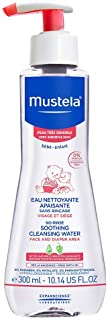 Mustela No-Rinse Soothing Cleansing Water - Micellar Water - Baby Cleanser Face & Diaper - For Very Sensitive Skin - Fragr...