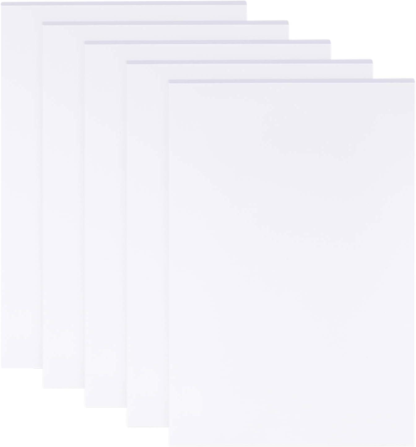 BENECREAT 5 Sheets 3mm White Boards 11.8x7.8