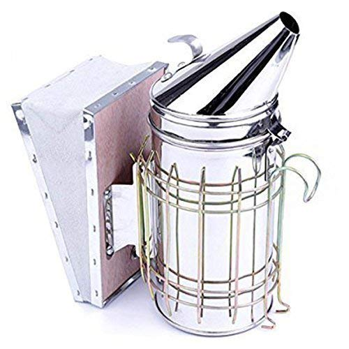 ASEOK Bee Hive Smoker, Beekeeping Equipment, Heavy Duty Stainless Steel Large Size, Superior Airflow Bellow and Excellent Smoke Output for Beekeeping