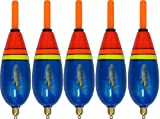 5 Forellenposen Pose Forellenangeln Posen Forelle Behr blau Forellensee Schwimmer vorgebleit, Tragkraft:2+2g