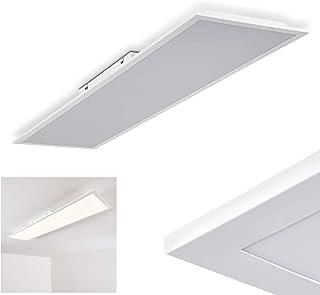 Lámpara de techo LED Antria blanco, 1 x LED 40 vatios, 4000 Kelvin, 3000 Lumen, ideal para dormitorio