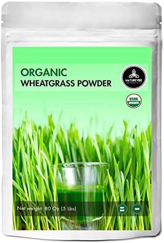 Naturevibe Botanicals Organic Wheatgrass Powder 5lbs 80 Ounces product image