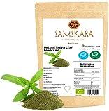 Estevia en Polvo natural molida pura | Stevia de cultivo Ecológica BIO origen Española | Hojas molida | Verde | Endulzante proceso natural raw (250gr)