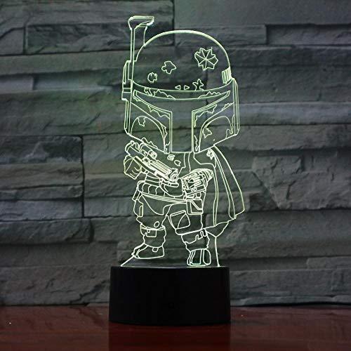 Lámpara de Mesa táctil de diseño de Dibujos Animados lámpara de Mesa de reemplazo de Color luz de Noche