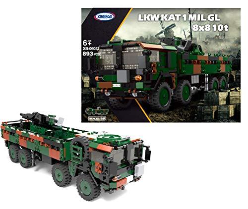 Xingbao 06052 - Bundeswehr LKW MIL GL Kat 1 8x8 10t (893 Teile)