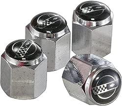 Eckler's Premier Quality Products 25-121445 Corvette Valve Stem Caps C4 Logo Chrome