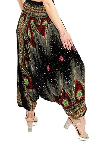 Zarlena Damskie spodnie alladynki z pumpą haremki, pludry