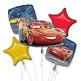 amscan 10118403 Cars Folienballon Set Lightning McQueen, Mehrfarbig, 0-0 Years