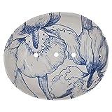 Seifenschale, Seifenablage von Tranquillo, Blau floral gemustert,