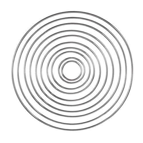 Beatie 10 Pack DIY Dream Catcher Cercle Dreamcatcher Métal Macramé Anneaux pour Attrapeur De Rêves Et Artisanat Fournitures Artisanales Handmade, 10 Différentes Tailles