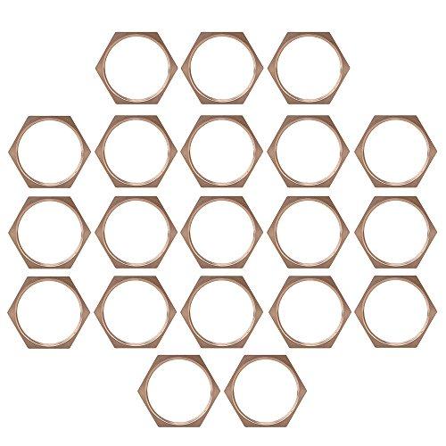 Lot de 20 3/10,2 cm Cuivre Bspt Tuyau Filetage Écrou hexagonal Tube connecteur de fixation Joint